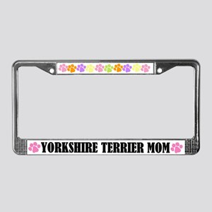 Yorkshire Terrier Mom License Plate Frame