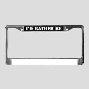 I'd Rather Be Salsa Dancing License Frame