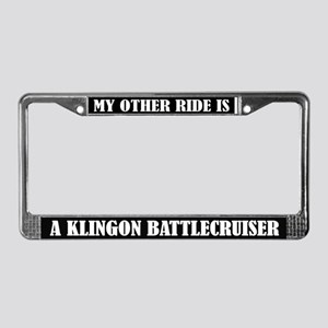 My Other Ride Klingon Battlecruiser License Frame