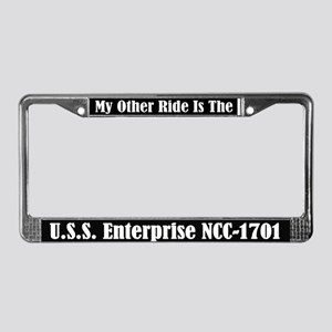 My Other Ride is the Enterprise License Frame