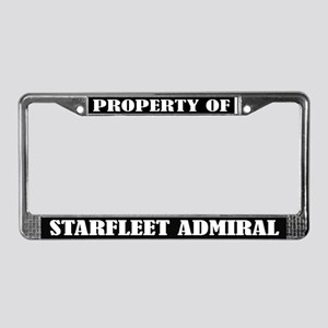 Property of Starfleet Adminral License Frame