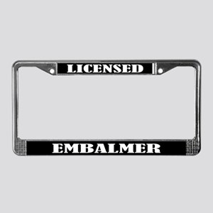 Licensed Embalmer Gift License Plate Frame
