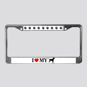 Love My Lab Silhouette License Plate Frame