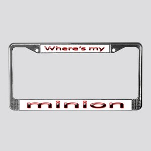 Where's my minion License Plate Frame
