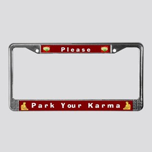 Please Park Your Karma #1 License Plate Frame