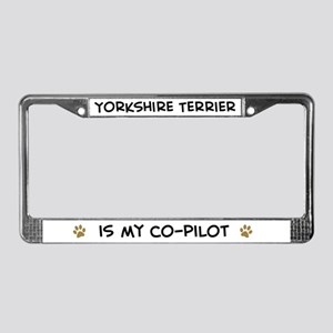 Co-Pilot: Yorkshire Terrier License Plate Frame