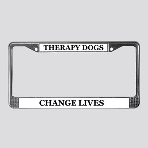 Therapy Dogs License Plate Frame