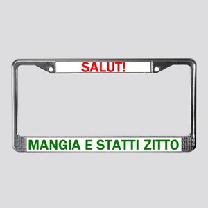 Mangia License Plate Frame