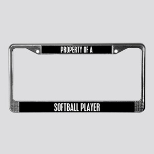 Softball Player License Plate Frame