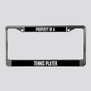 Tennis Player License Plate Frame