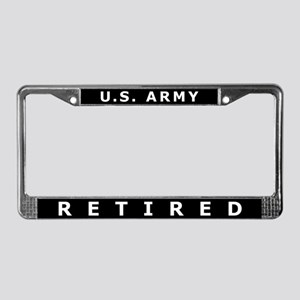 U.S. Army Retired License Plate Frame