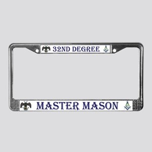 Masonic 32nd Degree License Plate Frame