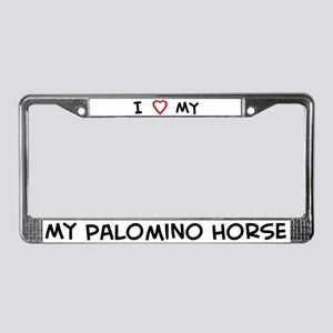 I Love Palomino Horse License Plate Frame