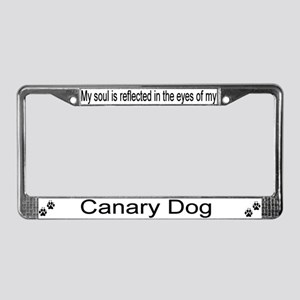 """Canary Dog"" License Plate Frame"