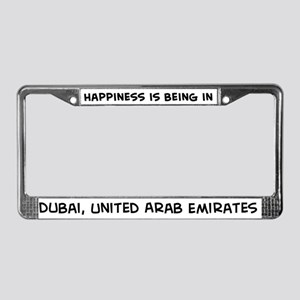 Happiness is Dubai License Plate Frame