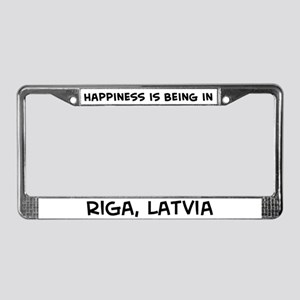 Happiness is Riga License Plate Frame