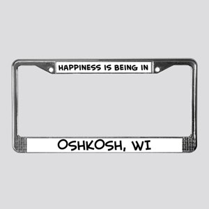 Happiness is Oshkosh License Plate Frame