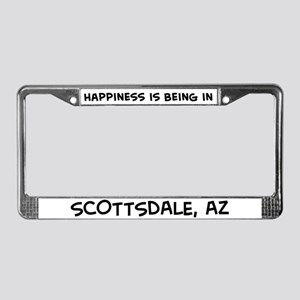 Happiness is Scottsdale License Plate Frame