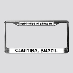 Happiness is Curitiba License Plate Frame