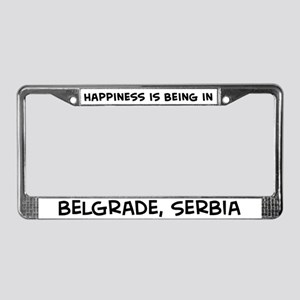 Happiness is Belgrade License Plate Frame