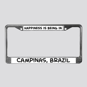 Happiness is Campinas License Plate Frame