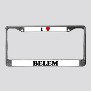 I Love Belem License Plate Frame