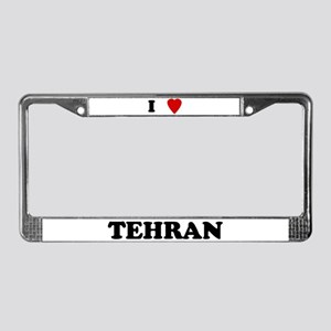 I Love Tehran License Plate Frame