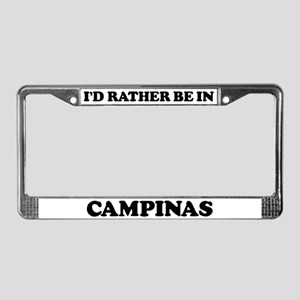 Rather be in Campinas License Plate Frame
