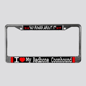 Redbone Coonhound Gifts License Plate Frame