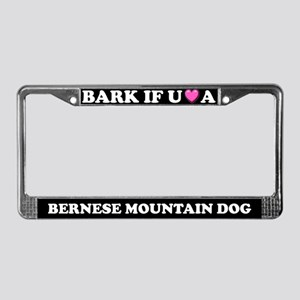 Bark Love Bernese Mountain Dog License Plate Frame