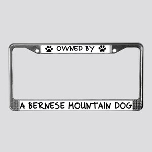 Owned by Bernese Mountain Dog License Plate Frame