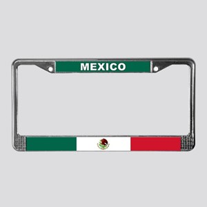 Mexico World Flag License Plate Frame