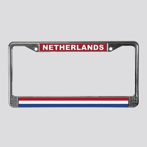 Netherlands World Flag License Plate Frame