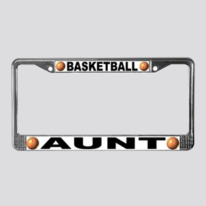 Basketball Aunt License Plate Frame