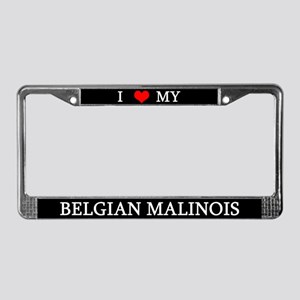 Love Belgian Malinois License Plate Frame
