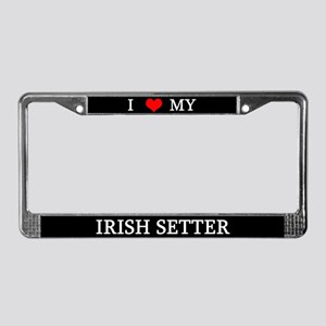Love Irish Setter License Plate Frame