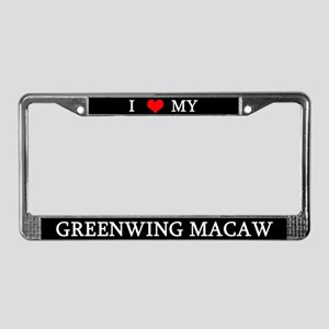 Love Greenwing Macaw License Plate Frame