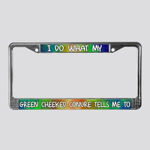 Do what Green Cheeked Conure License Plate Frame