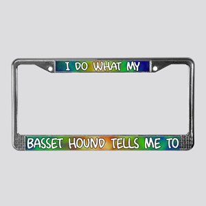 Do what Basset Hound License Plate Frame