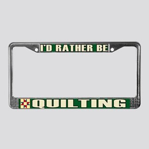 Quilting License Plate Frame