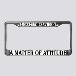 Best Therapy Dog License Plate Frame