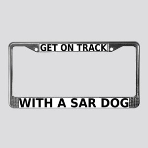On Track with SAR License Plate Frame