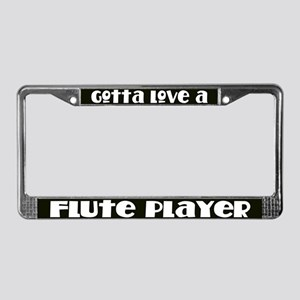 Flute Player License Plate Frame
