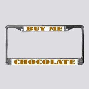Chocolate License Plate Frame