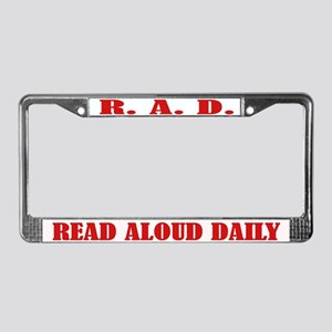 Read Aloud License Plate Frame