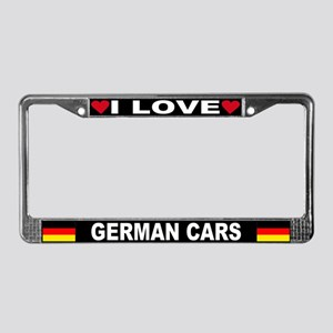 I Love German Cars License Plate Frame