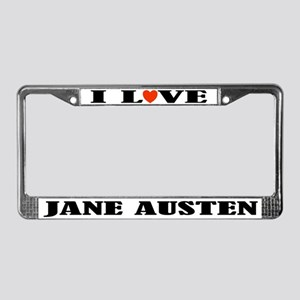I Love Jane Austen License Plate Frame