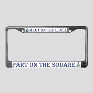 Masonic On the Level License Plate Frame