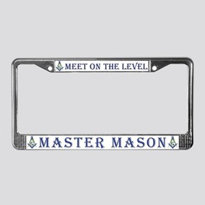 Meet On the Level License Plate Frame