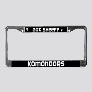 got sheep? Komondor License Plate Frame